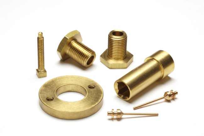Assorted brass parts