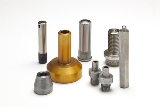 Collection of machined parts